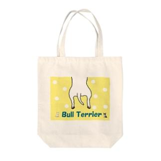 ブルテリアおしり柄 Tote bags