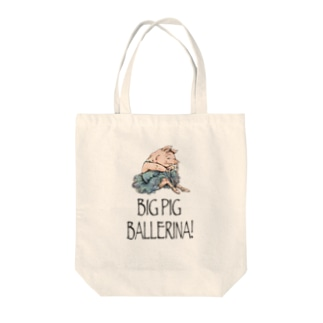 BIG PIG BALLERINA! Tote bags