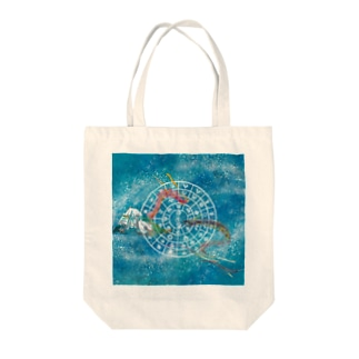 向かい合うタツ(フトマニ小さ目) Tote bags