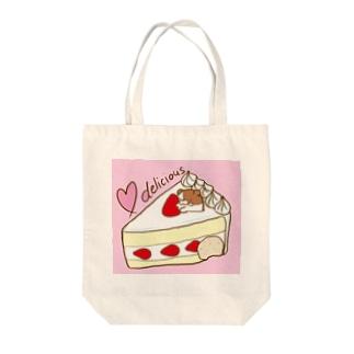 苺ショート ピンク Tote bags
