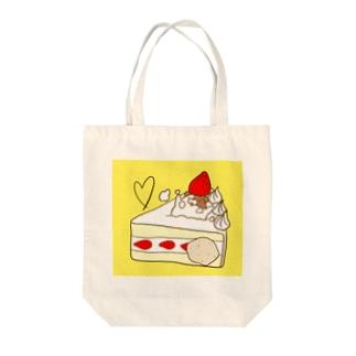 苺ショートケーキ 黄色 Tote bags