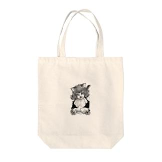 黒猫娘 Tote bags
