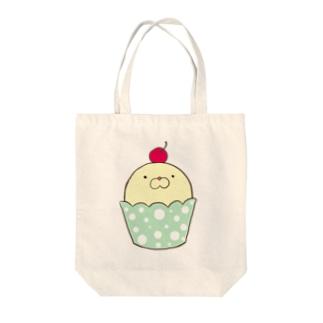 あざらしカップケーキ バニラ Tote bags