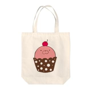 あざらしカップケーキ 苺 Tote bags