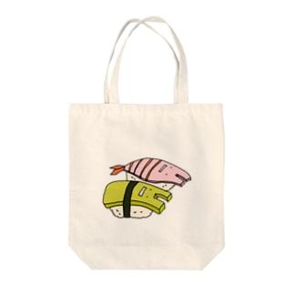 2Dうさぎ すし(玉子・エビ) Tote bags