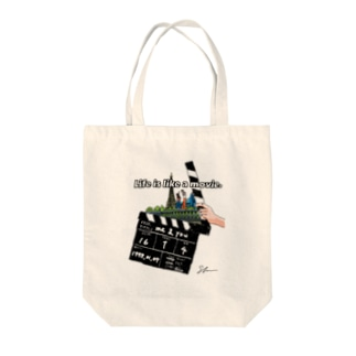 『Life is like a movie.』 Tote bags