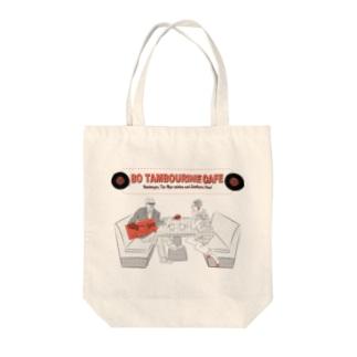 BO TAMBOURiNE CAFE Tote bags