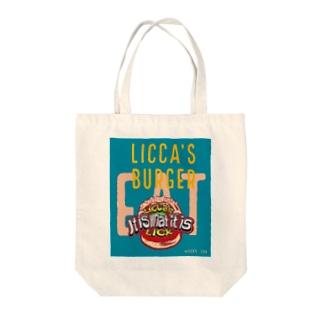 リッカーズバーガーeat Tote bags