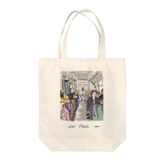 DONTTHINK JUST FEEL Tote bags