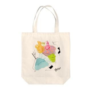 ウサギマヤ運河sweets Tote bags