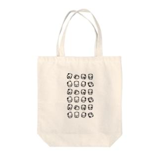 ぱんちゃん せいれつ Tote bags