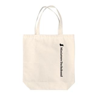 ミニチュアダックスフンド Tote bags