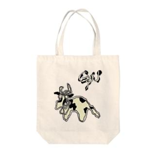 ushi-gyu Tote bags