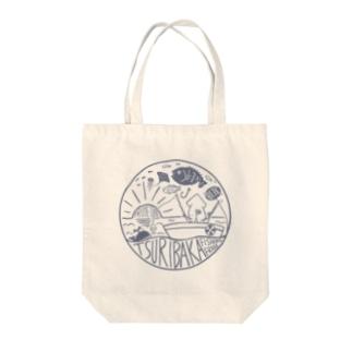 釣りバカ~Tsuribaka~ロゴ風デザイン Tote bags
