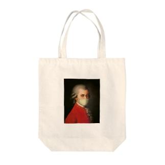 マスク モーツァルト Mozart Tote bags