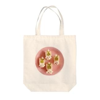 プードルのフルーツサンド Tote bags