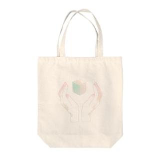 キューブ Tote bags