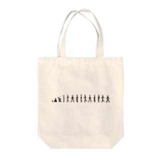 歩く人 Tote bags