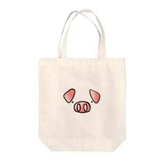 トンちゃん Tote bags