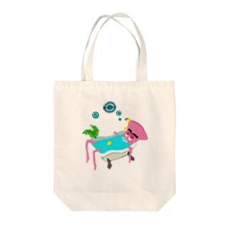 綺麗好きの極楽タイム Tote bags