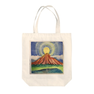 御来光 赤富士 Tote bags