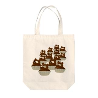 たぬきケーキいっぱい Tote Bag