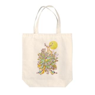 満月の夜〜一枚の葉〜 Tote bags