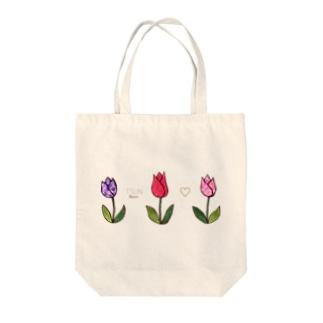 Tsun tun tulip Tote bags