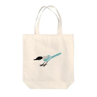 オナガどん Tote bags