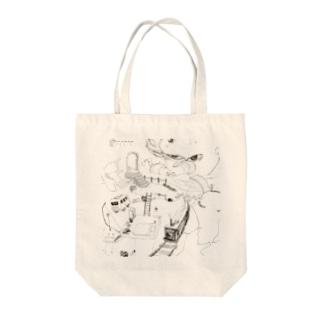 ランランルー Tote bags