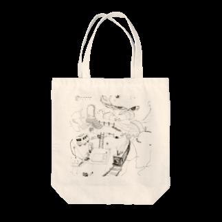 ちゃっかりのランランルー Tote bags