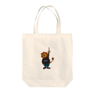 new つり革 ライオン Tote bags