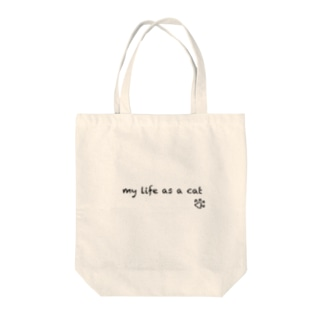 my life as a cat Tote bags
