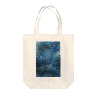 青い記憶 Tote bags