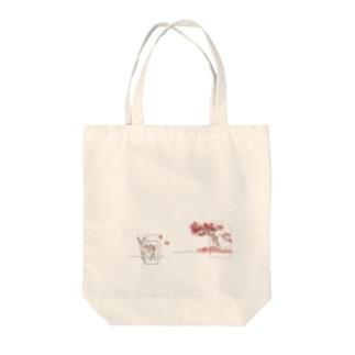 花札 momiji Tote bags