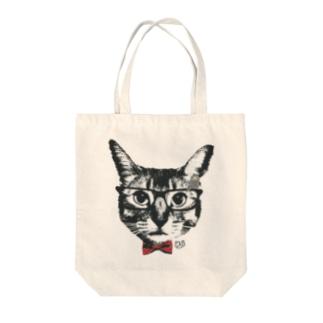 Nobigao めが猫 Tote bags