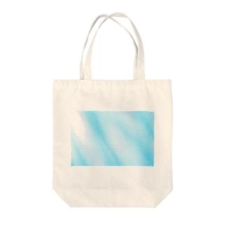 水色マーブル Tote bags