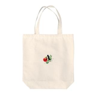 イニシャルAの女の子ステッカー Tote bags