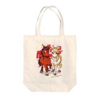 PONY FRIENDS(white) Tote bags