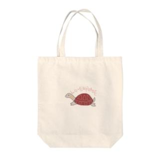 イシガメの花ちゃん Tote bags