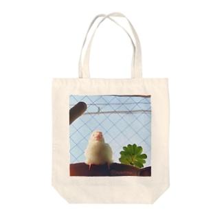 松砂丸商店の白文鳥のチマフミ Tote bags