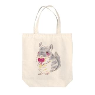 きゅんきゅんチンチラ Tote bags