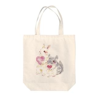 きゅんきゅん Tote bags