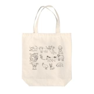kawaii十二支 Tote bags