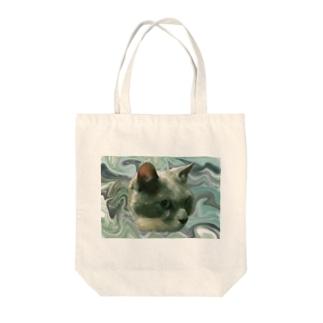かわいい猫タマ Tote bags