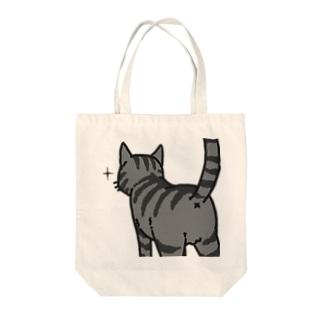 ねこけつ(サバトラ、アップ) Tote bags