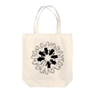 白黒ネコ Tote bags