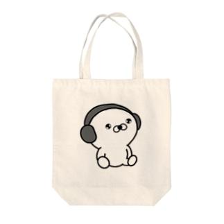 「正直すぎるアザラシ」のNo Music No Life Tote bags
