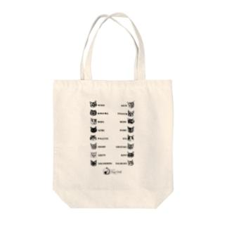 猫カフェラグドール猫スタッフ Tote bags