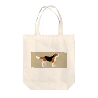 にこにこわんこ(地色つき) Tote bags
